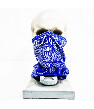 """Бандана-труба """"Огурцы"""" синяя"""