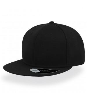 Бейсболка с прямым козырьком черная  SNAP BACK