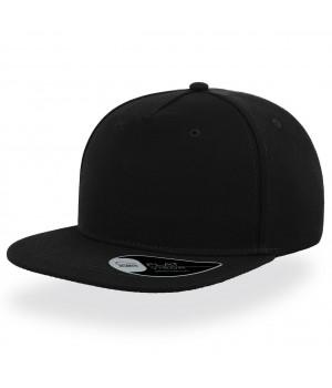 Бейсболка с прямым козырьком черная SNAP FIVE
