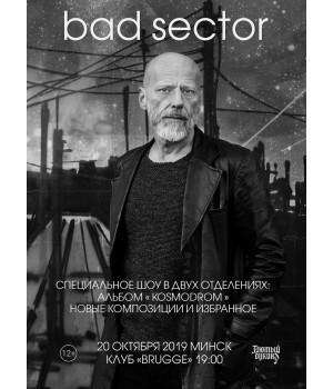 Bad Sector 20 октября 2019 Клуб «Брюгге» Минск (фирменный билет)