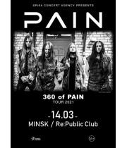 Pain 14 марта 2021 Клуб «RE:PUBLIC» Минск