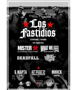 Los Fastidios + What We Feel + Mister X 6 марта 2020 Клуб «RE:PUBLIC» Минск