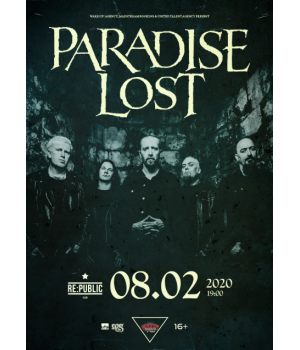 Paradise Lost 8 февраля 2020 Клуб «RE:PUBLIC» Минск