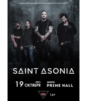 Saint Asonia 19 октября 2021 «Prime Hall» Минск