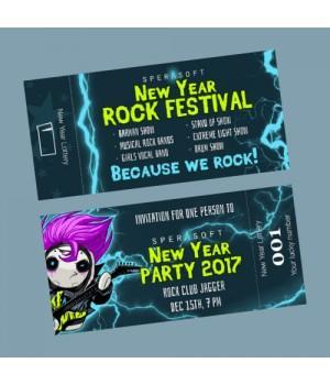 Печать фирменных билетов на концерт