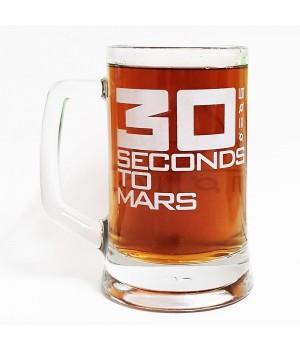 """Пивная кружка """"30 Seconds To Mars"""""""