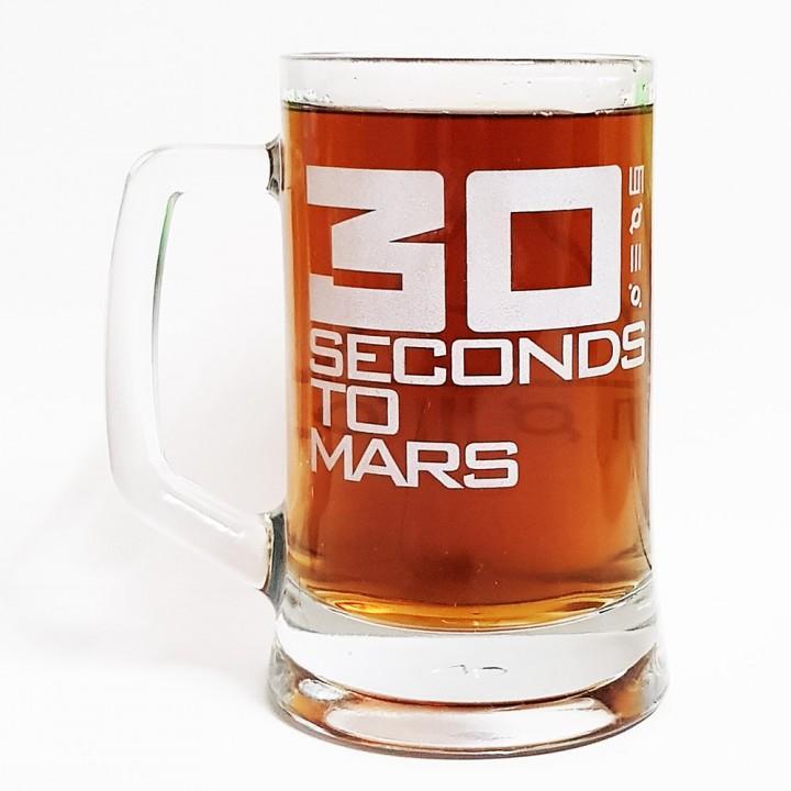 """Пивная кружка """"30 Seconds To Mars"""" (15197)"""