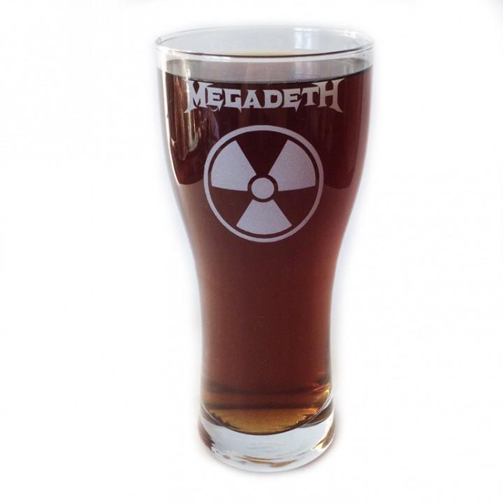 """Бокал пивной """"Megadeth"""" (864)"""