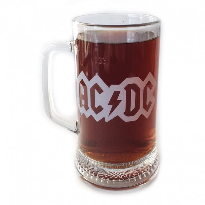 """Пивная кружка """"AC/DC"""" (879)"""