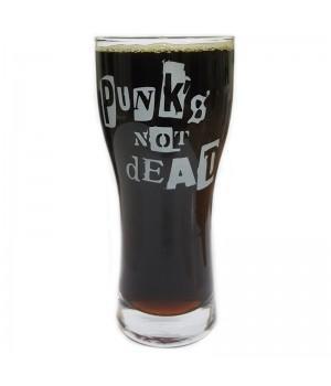 """Бокал пивной """"Punk's Not Dead"""""""