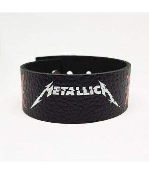 """Браслет """"Metallica"""" кожаный"""