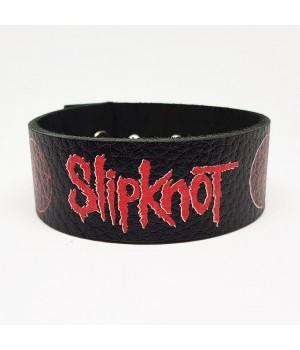 """Браслет """"Slipknot"""" кожаный"""