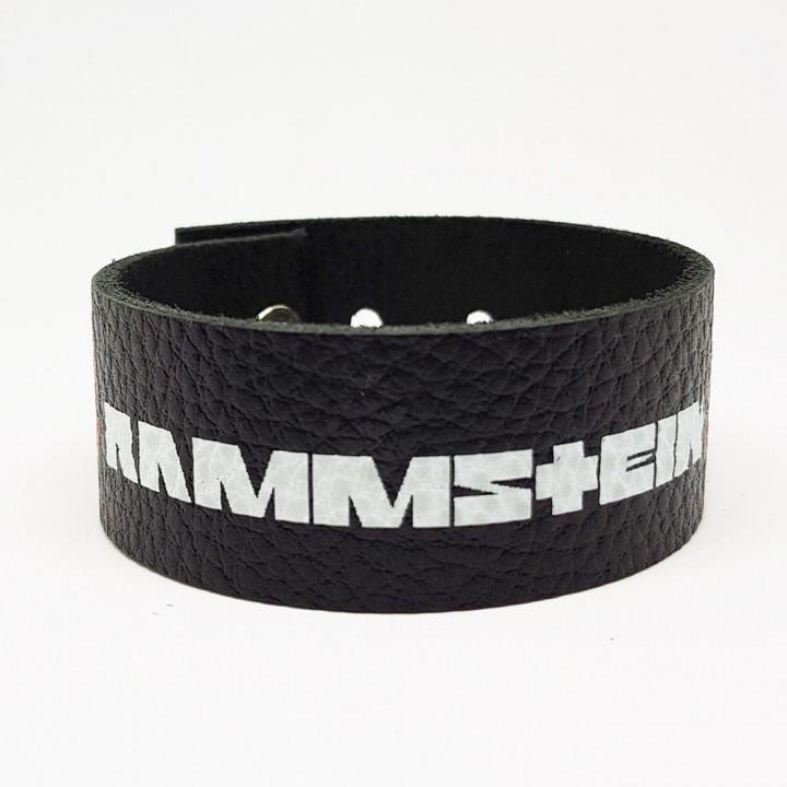"Браслет кожаный ""Rammstein"" (9331)"