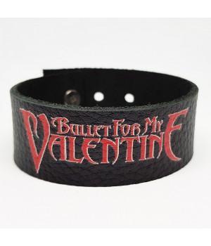 "Браслет ""Bullet Fot My Valentine"" кожаный"