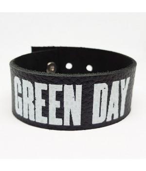 """Браслет """"Green Day"""" кожаный"""