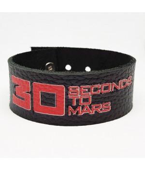 "Браслет ""30 Seconds To Mars"" кожаный"