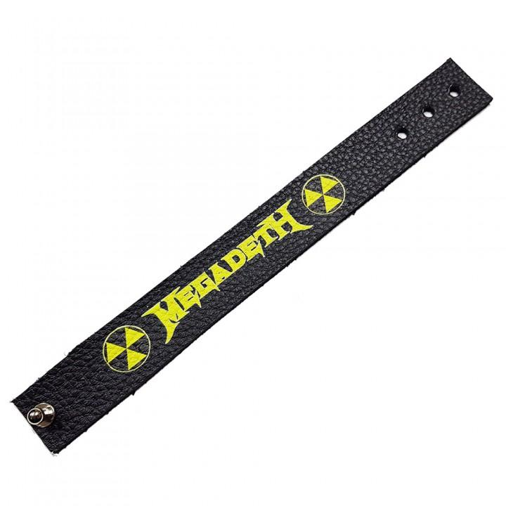 """Браслет кожаный """"Megadeth"""" (9662)"""