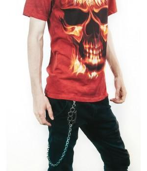 Цепочка на джинсы черная 85 см