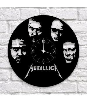 """Часы """"Metallica"""" из виниловой пластинки"""