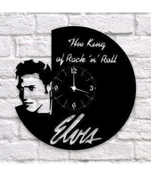 """Часы """"Elvis Presley"""" из виниловой пластинки"""