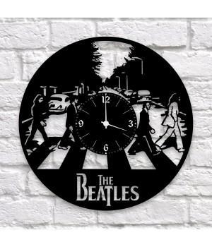 """Часы """"The Beatles"""" из виниловой пластинки"""