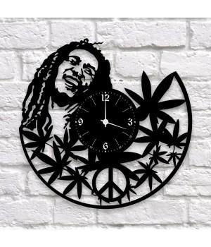 """Часы """"Bob Marley"""" из виниловой пластинки"""
