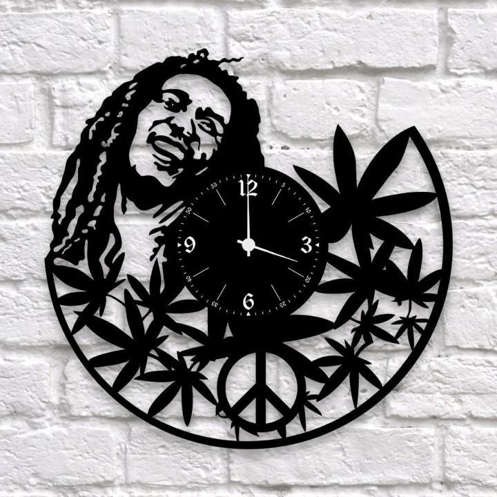 """Часы """"Bob Marley"""""""" из виниловой пластинки (9673)"""