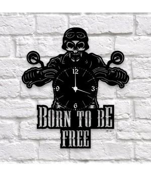 "Часы ""Born To Be Free"" из виниловой пластинки"