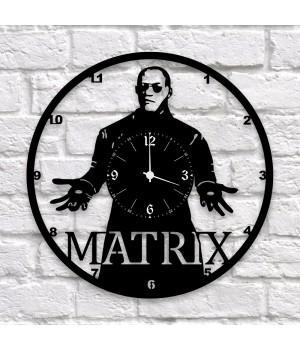 """Часы """"Matrix (Матрица)"""" из виниловой пластинки"""