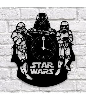"""Часы """"Star Wars (Звёздные войны)"""" из виниловой пластинки"""