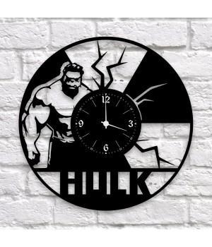 """Часы """"Hulk (Халк)"""" из виниловой пластинки"""