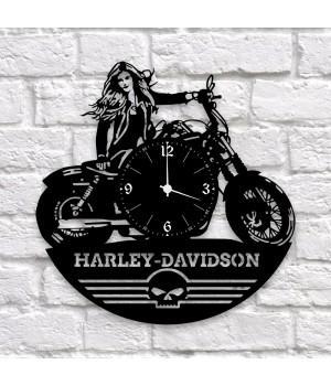 """Часы """"Harley-Davidson"""" из виниловой пластинки"""