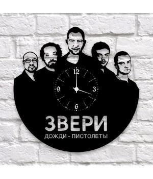 """Часы """"Звери"""" из виниловой пластинки"""