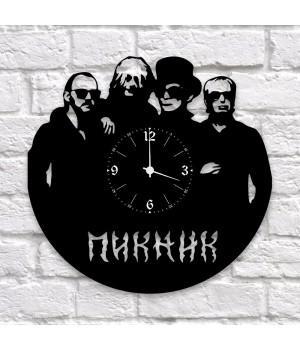 """Часы """"Пикник"""" из виниловой пластинки"""