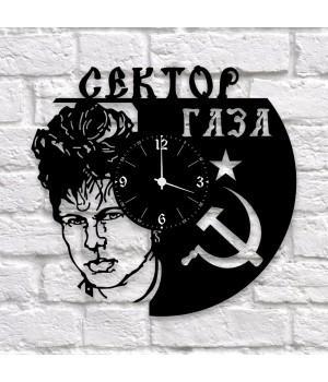 """Часы """"Сектор газа"""" из виниловой пластинки"""