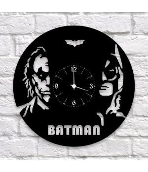 """Часы """"Batman (Бэтмен)"""" из виниловой пластинки"""