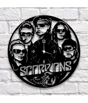"""Часы """"Scorpions"""" из виниловой пластинки"""