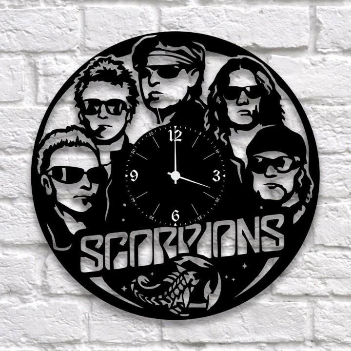 """Часы """"Scorpions"""" из виниловой пластинки (9942)"""