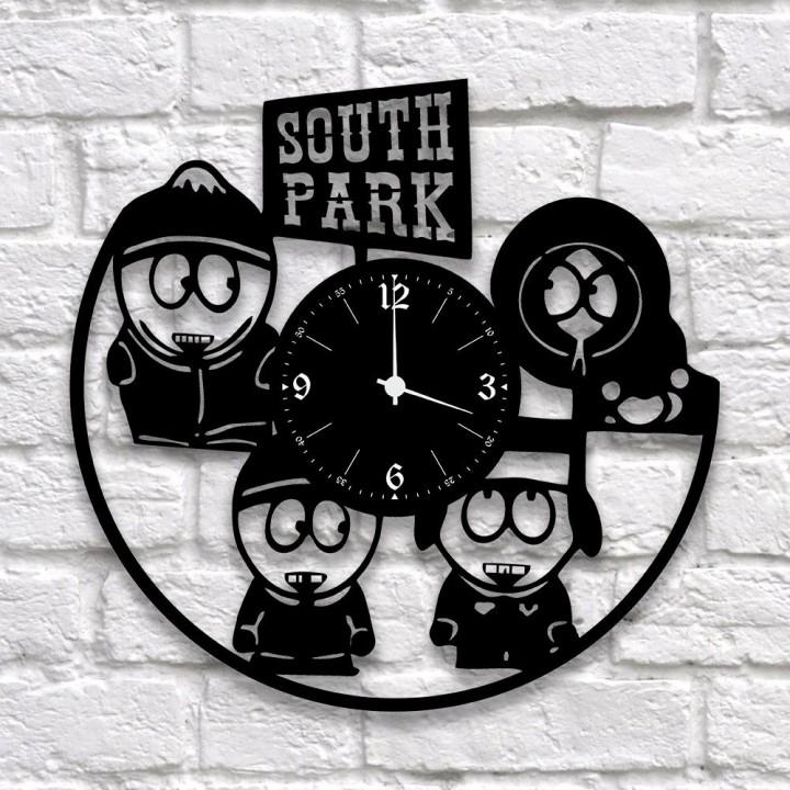 """Часы """"South Park (Южный Парк)"""" из виниловой пластинки (9944)"""