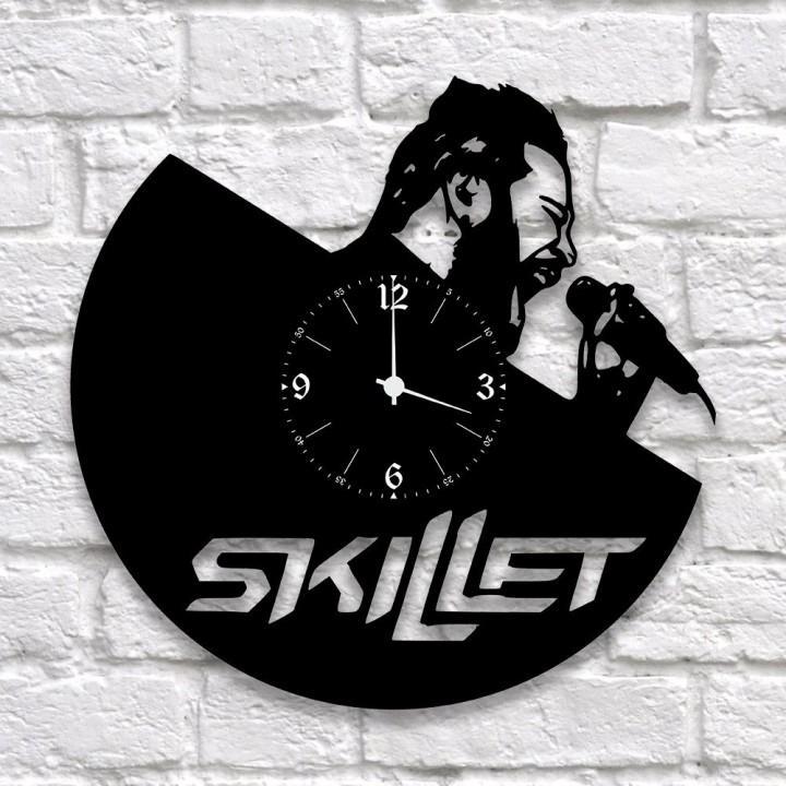 """Часы """"Skillet"""" из виниловой пластинки (9933)"""