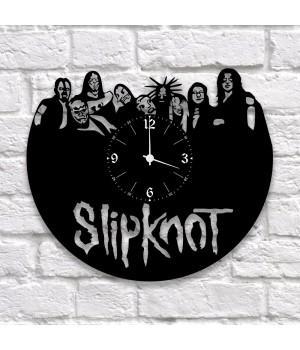 """Часы """"Slipknot"""" из виниловой пластинки"""