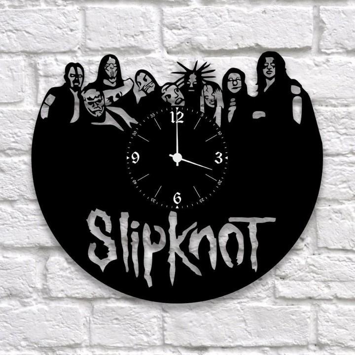 """Часы """"Slipknot"""" из виниловой пластинки (9936)"""