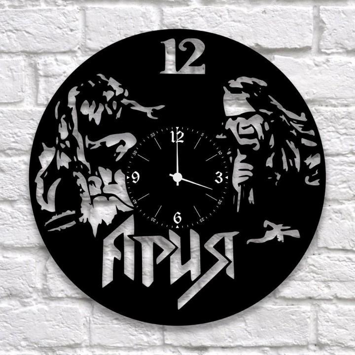 """Часы """"Ария"""" из виниловой пластинки (9937)"""