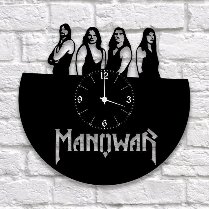 """Часы """"Manowar"""" из виниловой пластинки (9938)"""