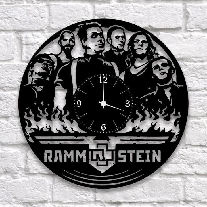 """Часы """"Rammstein"""" из виниловой пластинки (9940)"""