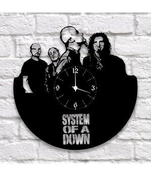 """Часы """"System Of A Down"""" из виниловой пластинки"""