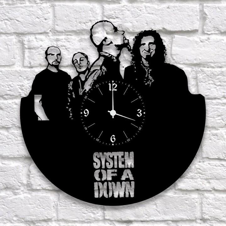 """Часы """"System Of A Down"""" из виниловой пластинки (9941)"""