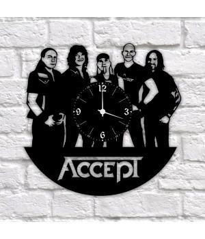 """Часы """"Accept"""" из виниловой пластинки"""