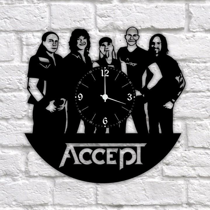 """Часы """"Accept"""" из виниловой пластинки (11679)"""