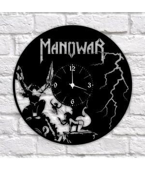 """Часы """"Manowar"""" из виниловой пластинки"""